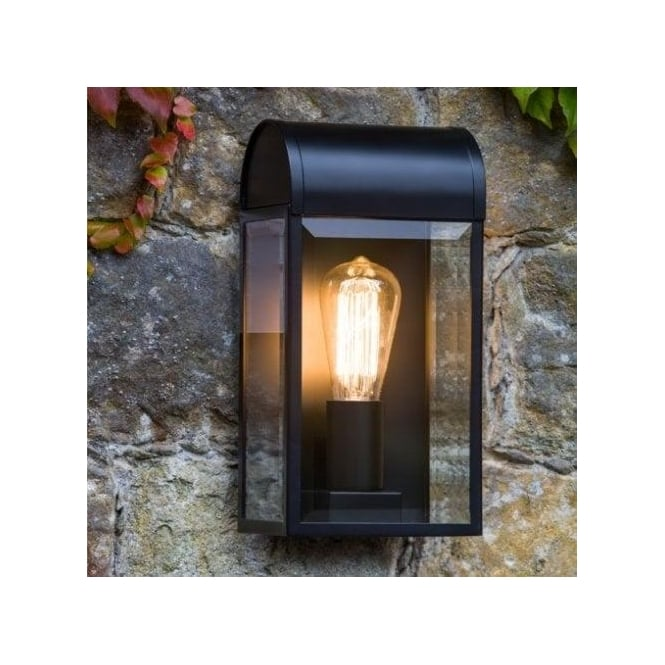Astro Lighting Newbury Single Light Exterior Wall Lantern In Black Finish With Clear Glass