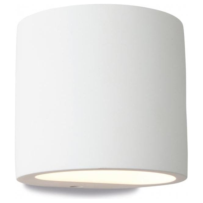 Wall Light Uplighter Downlighter : Firstlight Nina Plaster Single Light Wall Uplighter/Downlighter in White Plaster Finish ...