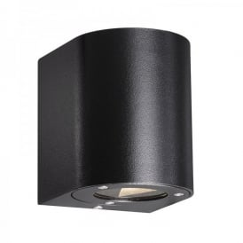 Canto LED 2 Light Outdoor Up and Down Wall Fixture in Black