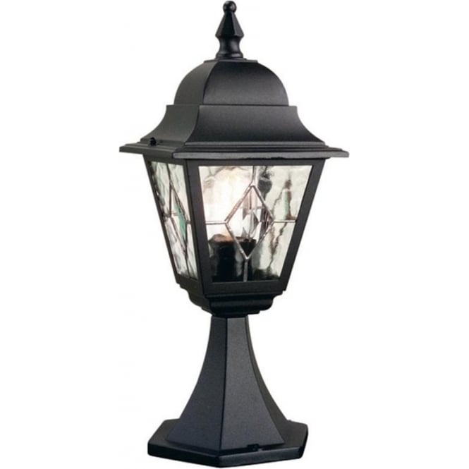 Elstead Lighting Norfolk Single Light External Wall Pedestal Lantern In A Bla