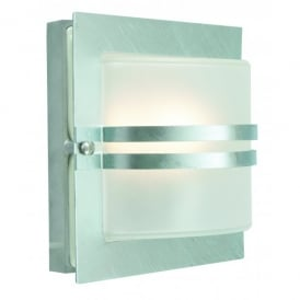 Norlys Bern Single Light Outdoor Wall Fitting In Stainless Steel Finish with Clear Lens
