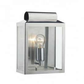 Notary Single Light Indoor or Outdoor Wall Fitting in Stainless Steel