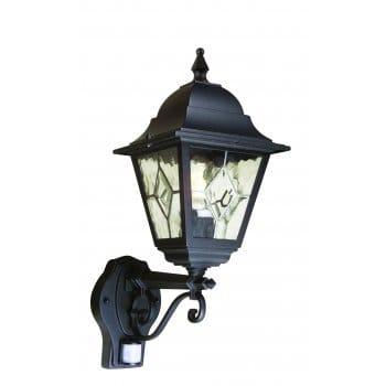 Lanark Outdoor Wall Light With Pir In Black : Elstead Lighting NR1/PIR Norfolk Outdoor Wall Light with PIR in Black Finish - Lighting Type ...