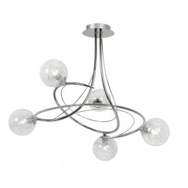 1515/5 CH Tabia 5 Light Ceiling Fitting In Polished Chrome Finish