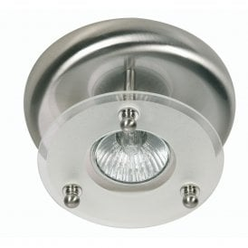 177/1 AC Single Light Surface Mounted Ceiling Spot Fitting In Antique Chrome Finish