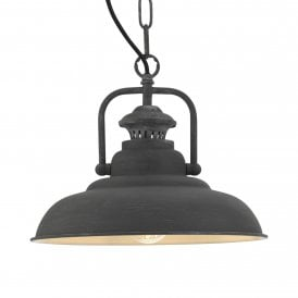 5151 CO Sten Single Light Ceiling Pendant In Dark Grey Concrete Finish