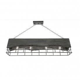 8812/4 CC Kellen 4 Light Ceiling Island Pendant In Concrete Finish