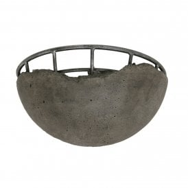 8812 WB CC Kellen Single Light Wall Fitting In Concrete Finish