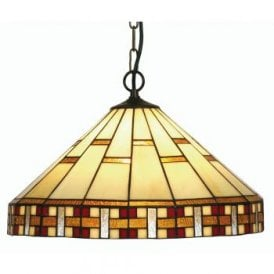 Aremisia Single Light Tiffany Ceiling Pendant