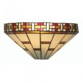 Aremisia Single Light Tiffany Wall Fitting