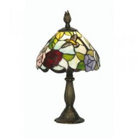 Aspen Single Light Tiffany Glass Table Lamp