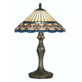 Aster Single Light Large Tiffany Glass Table Lamp