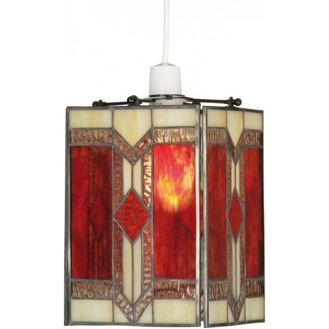 Ceiling Lamp Shades The Range: Oaks Lighting Aztec Tiffany Ceiling Light Pendant Shade
