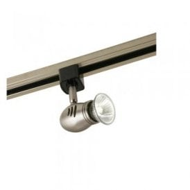 Bullet Single Light Track Spotlight in Antique Chrome Finish