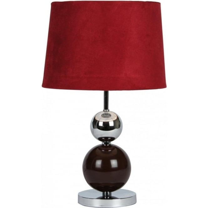 Gentil Corby Touch Table Lamp In Burgundy