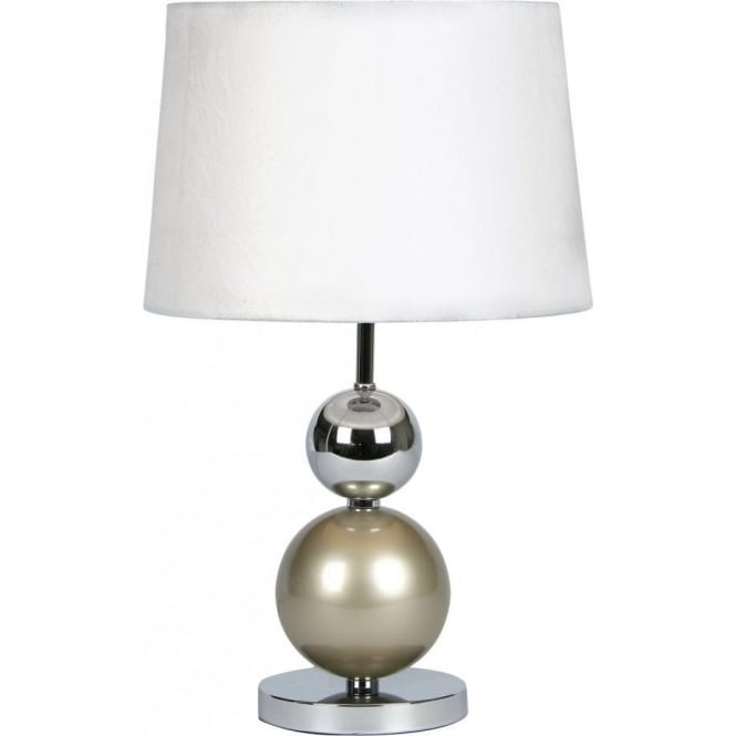 Oaks lighting corby touch table lamp in champagne and chrome finish corby touch table lamp in champagne and chrome finish with suede effect champagne shade aloadofball Images