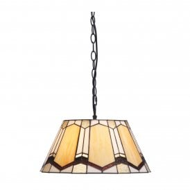 Curan Single Light Ceiling Pendant with Tiffany Style Shade