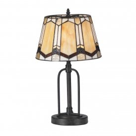 Curan Single Light Table Lamp with Tiffany Style Shade