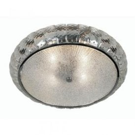 Dallas 4 Light Flush Ceiling Fitting In Polished Chrome And Clear Glass Finish