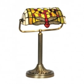 Dragonfly Tiffany Bankers Lamp