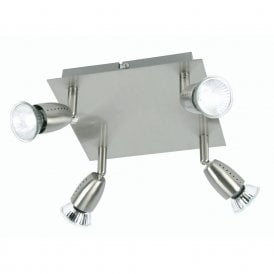 Ecco 4 Light Ceiling Spotlight Fitting In Antique Chrome Finish
