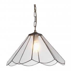 Fermo Single Light Ceiling Pendant with Clear Panels