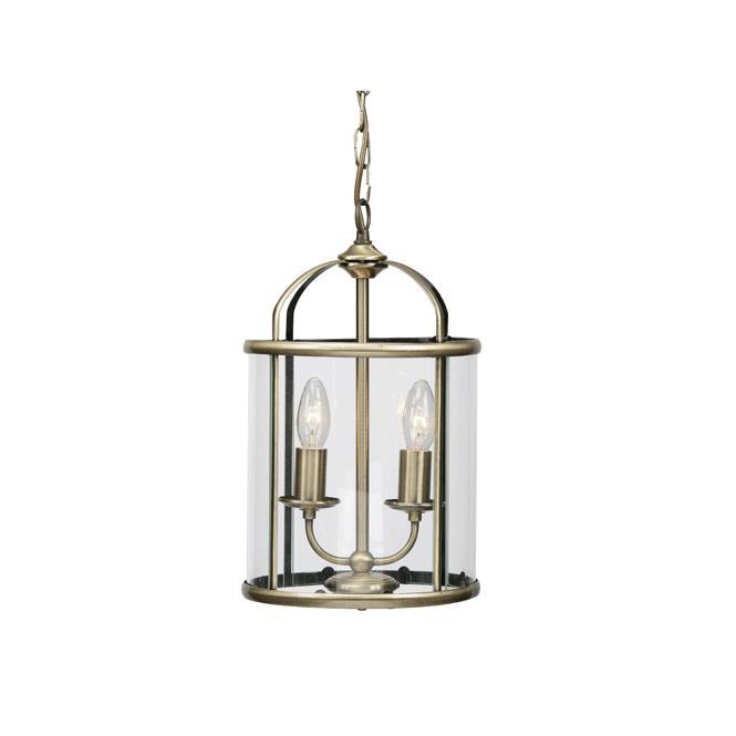 Oaks lighting fern 2 light lantern ceiling pendant in antique brass fern 2 light lantern ceiling pendant in antique brass aloadofball Image collections