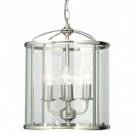 Fern 4 Light Ceiling Lantern in Antique Chrome Finish