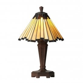 Feste Single Light Small Table Lamp with Tiffany Style Shade