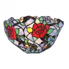 Flite Single Light Tiffany Glass Multi-Coloured Wall Fitting
