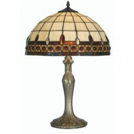 Flute Single Light Tiffany Large Table Lamp