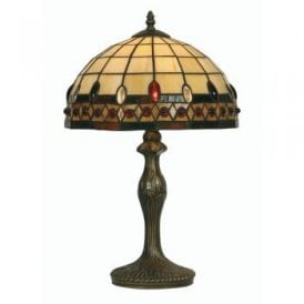 Flute Single Light Tiffany Medium Table Lamp