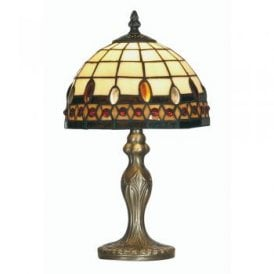 Flute Single Light Tiffany Small Table Lamp