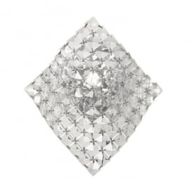 Glitter Single Light Wall Fitting In Polished Chrome And Crystal Finish