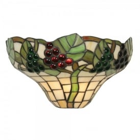 Grapes II Single Light Tiffany Wall Fitting