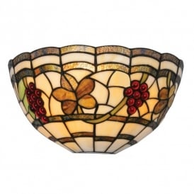 Grapes Single Light Tiffany Style Wall Fitting