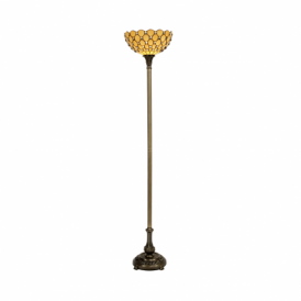 Jewel Tiffany Single Light Floor Lamp with Uplighter Shade