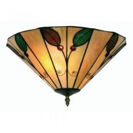 Leaf 2 Light Tiffany Flush Ceiling Fitting
