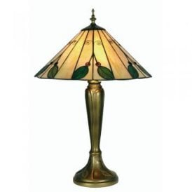 Leaf 2 Light Tiffany Large Table Lamp