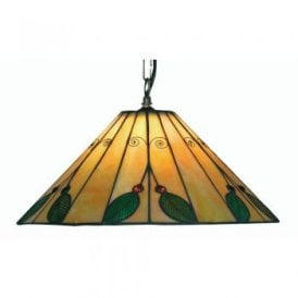 Leaf Single Light Tiffany Ceiling Pendant