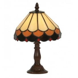 Lysander Single Light Tiffany Glass Table Lamp