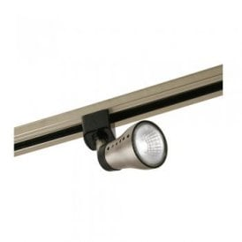 Milo Single Light Track Spotlight in Antique Chrome Finish with Black Detail