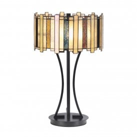 Morton 2 Light Table Lamp with Tiffany Style Shade