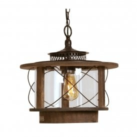 Mykyl Single Light Wooden Ceiling Pendant