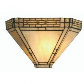 Opheila Single Light White Tiffany Glass Wall Fitting
