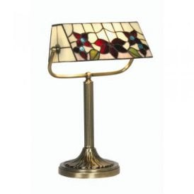 OT 3589/BL TL Camillo Single Light Tiffany Bankers Lamp