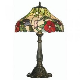 Peonies Single Light Large Tiffany Table Lamp