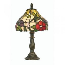 Peonies Single Light Tiffany Table Lamp