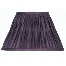 Plum Coloured 16 Inch Pinched Pleat Faux Silk Shade