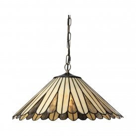 Regan Single Light Ceiling Pendant with Tiffany Style Shade